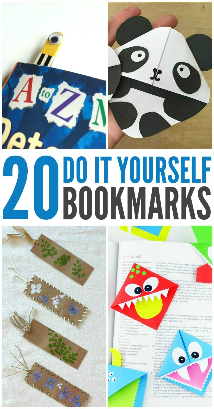 National reading month 20 diy bookmarks for kids pin it for later solutioingenieria Image collections