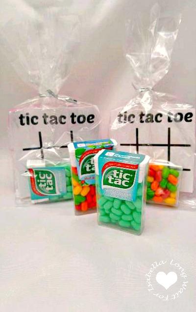 Tic Tac Toe Free Printable Treat Bag for Kids