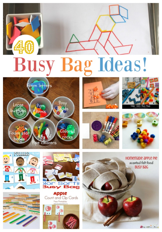 40+ Busy Bags You Can Make for the Kids