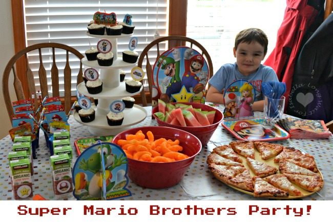 Nate is 5! He Loved His Super Mario Party!