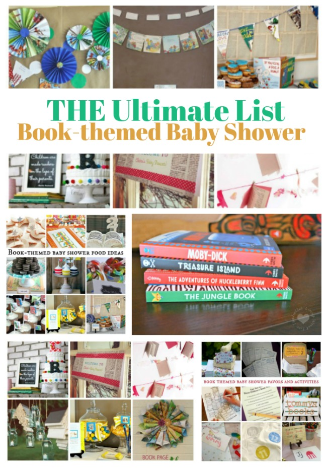 The Ultimate List of Book Themed Baby Shower Ideas