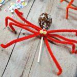 Dollar Tree Crafts: Pipe Cleaner Spider Lollipop Craft