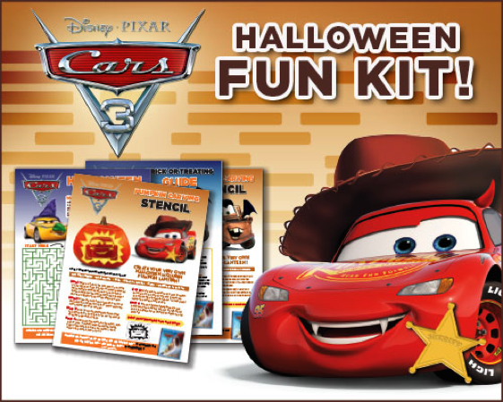 Download the Cars 3 Halloween Fun Kit for the Kids!