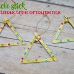 Dollar Tree Craft: Popsicle Stick Christmas Tree Ornament