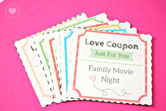 Printable Love Coupons for the Kids