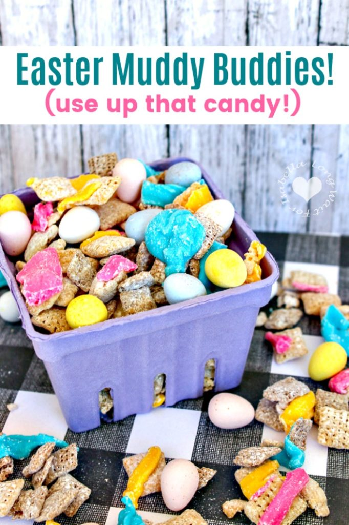 Easter Recipe for Muddy Buddies: Great For Leftover Candy!
