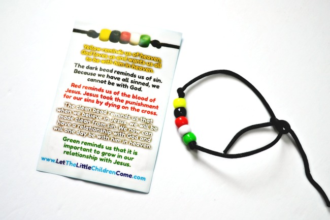 image regarding Abc's of Salvation Printable titled Wordless Bracelet Package for Youngsters: Salvation Bracelets