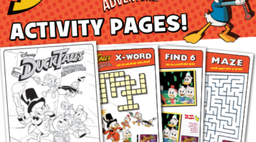 Disney XD DuckTales: Destination Adventure Activity Pages