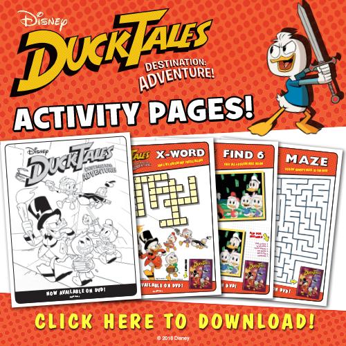 Disney XD DuckTales: Destination Adventure Activity Pages