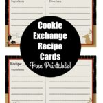 Printable Christmas Cookie Exchange Recipe Cards