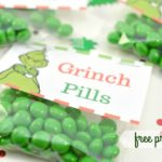So Cute and Easy: Grinch Pills Treat Bag with Printable Bag Topper!