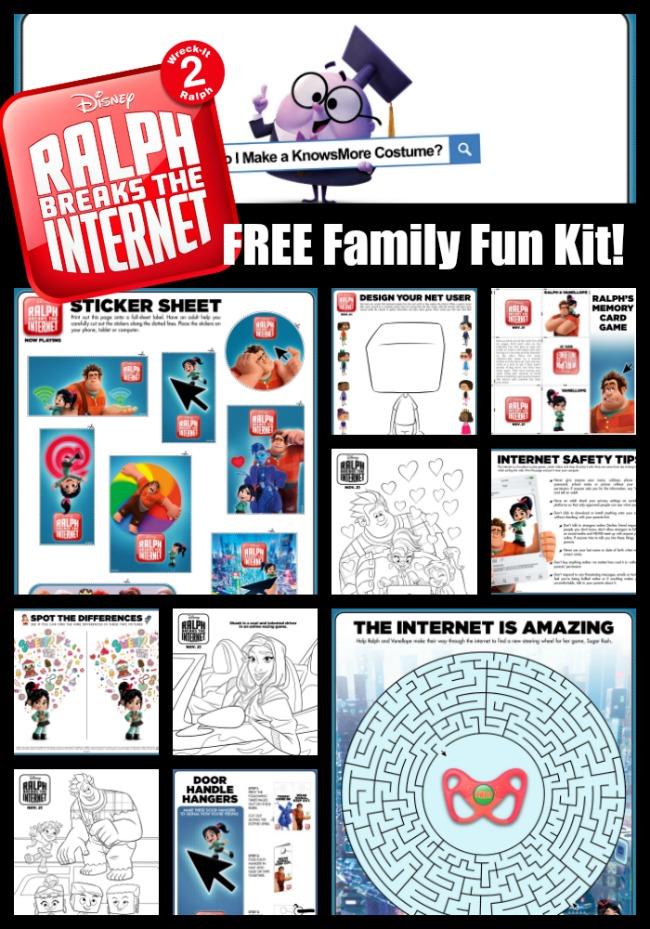 Wreck It Ralph Breaks the Internet Family Fun Kit! FREE!