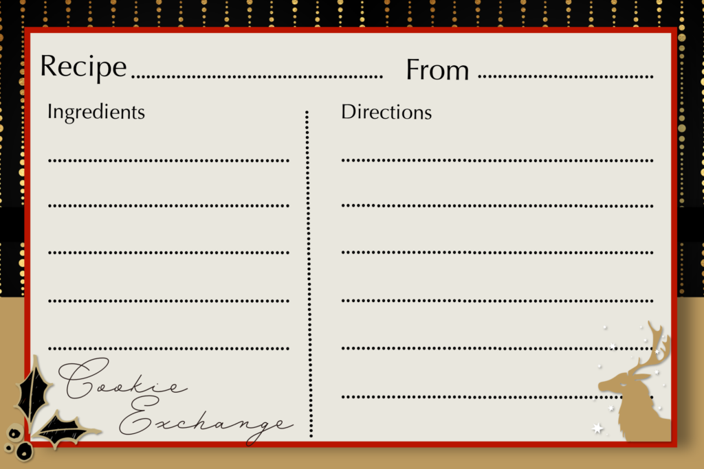 Cookie Exchange Recipe Cards